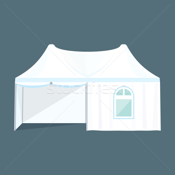 double folding tent marquee illustration Stock photo © TRIKONA