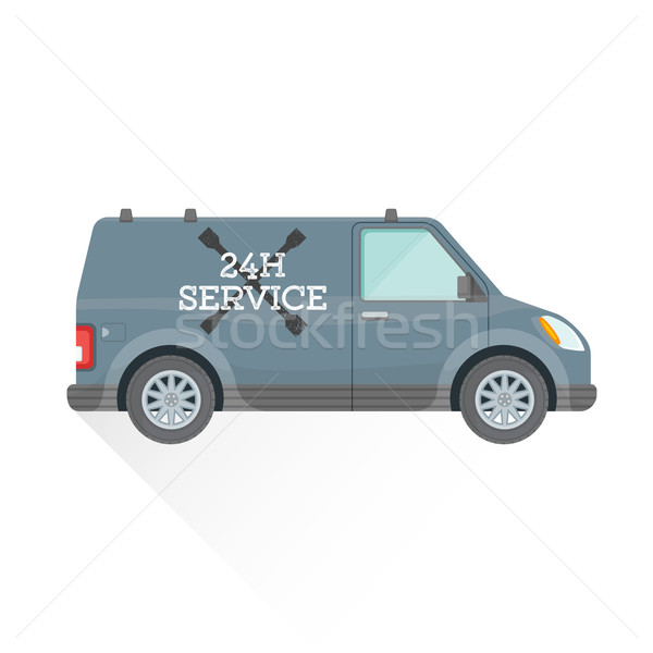 чрезвычайных ремонта службе автомобилей иллюстрация вектора Сток-фото © TRIKONA
