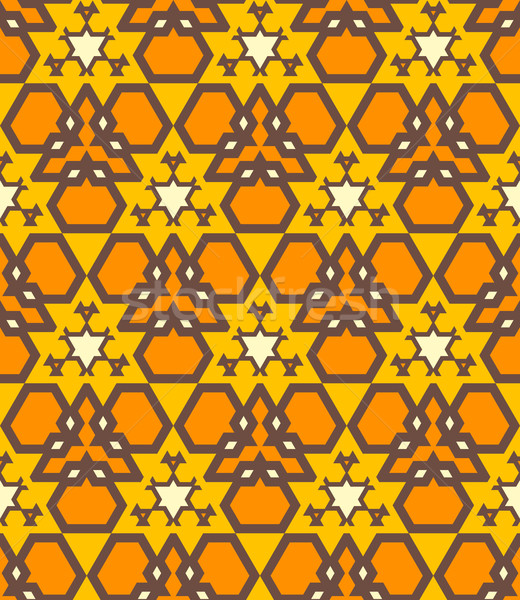 Pomarańczowy brązowy żółty kolor streszczenie geometryczny Zdjęcia stock © TRIKONA