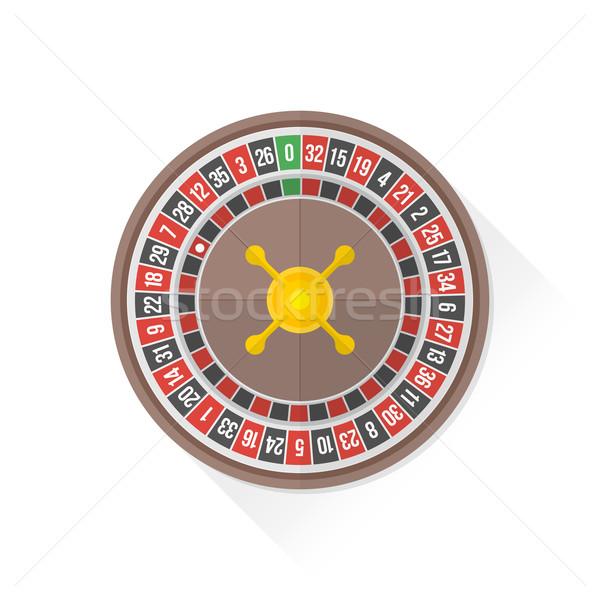 Szín játszik rulett ikon illusztráció vektor Stock fotó © TRIKONA