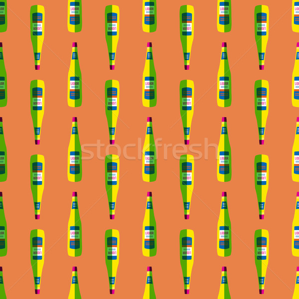 pop art liquor bottle seamless pattern