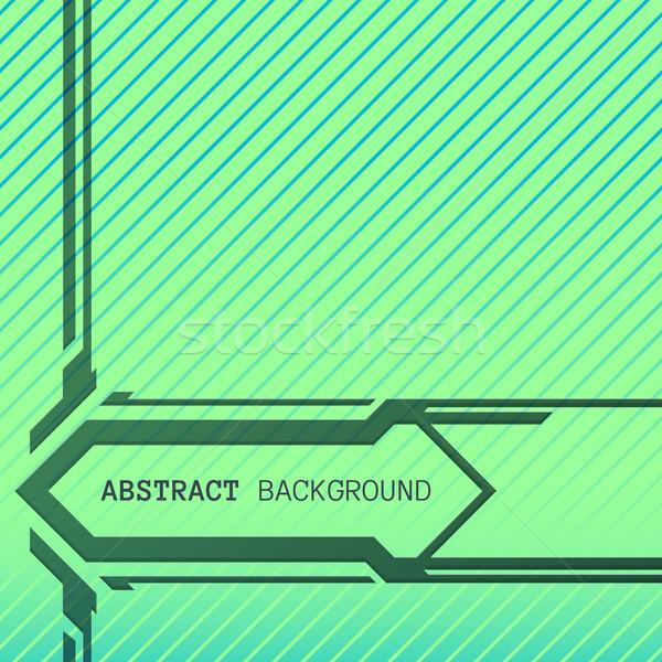 abstract geometric green blue stripes background  Stock photo © TRIKONA