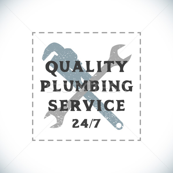 color plumbing service sign template Stock photo © TRIKONA