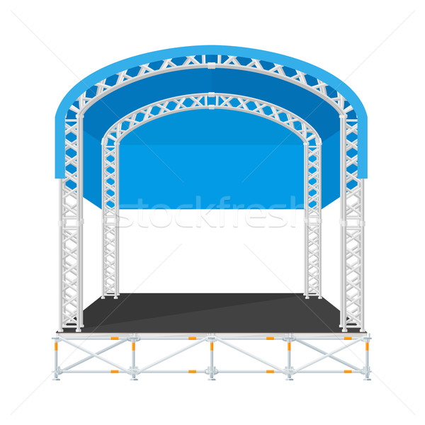 color flat design sectional concert metal stage with rounded roo Stock photo © TRIKONA