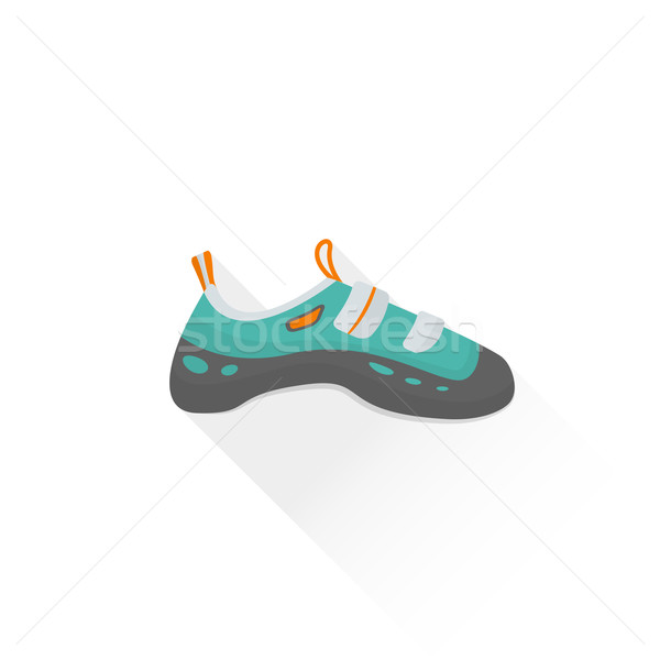 Stock photo: color alpinism equipment shoes icon illustration