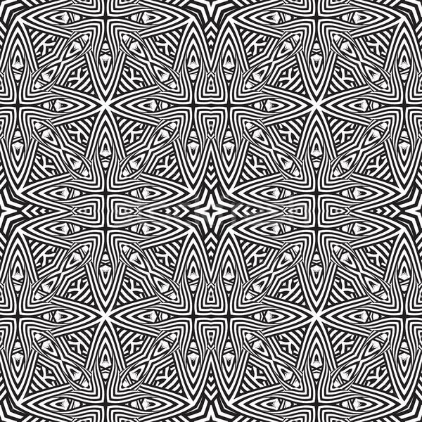 optical art abstract striped seamless deco pattern Stock photo © TRIKONA