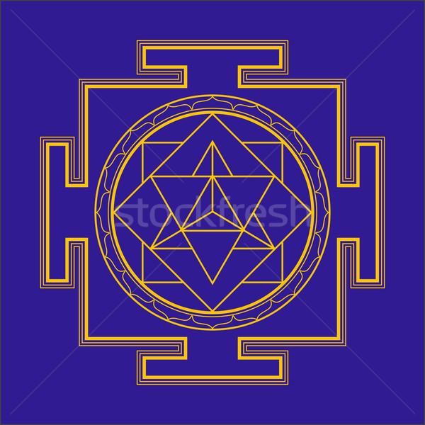 Ilustracja wektora złota hinduizm schemat Zdjęcia stock © TRIKONA
