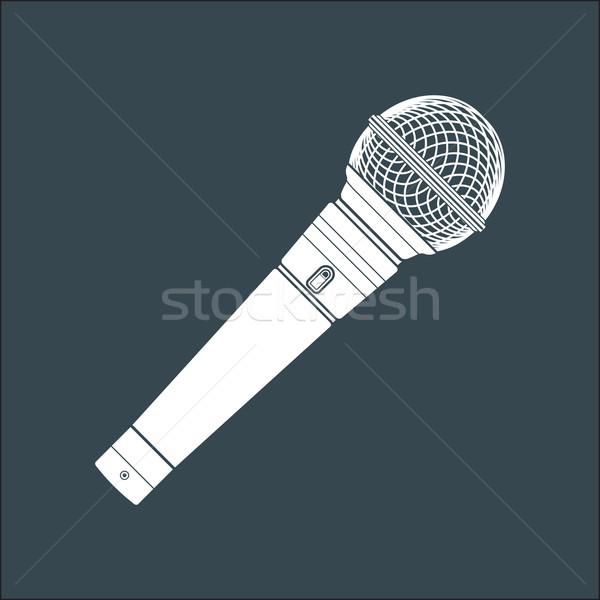 Sólido color etapa micrófono dispositivo ilustración Foto stock © TRIKONA