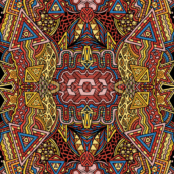Gekleurd psychedelic patroon vector retro Stockfoto © TRIKONA