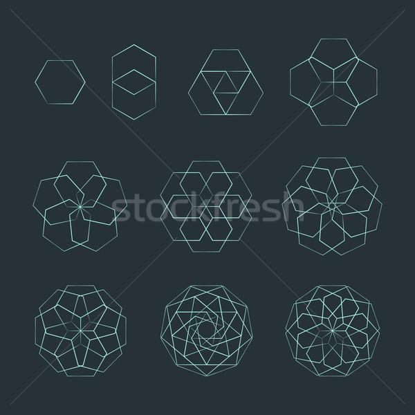 幾何 セット ベクトル ストックフォト © TRIKONA