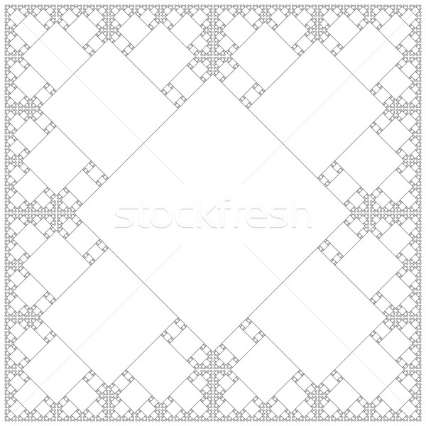 square sacral geometry fractal structure background