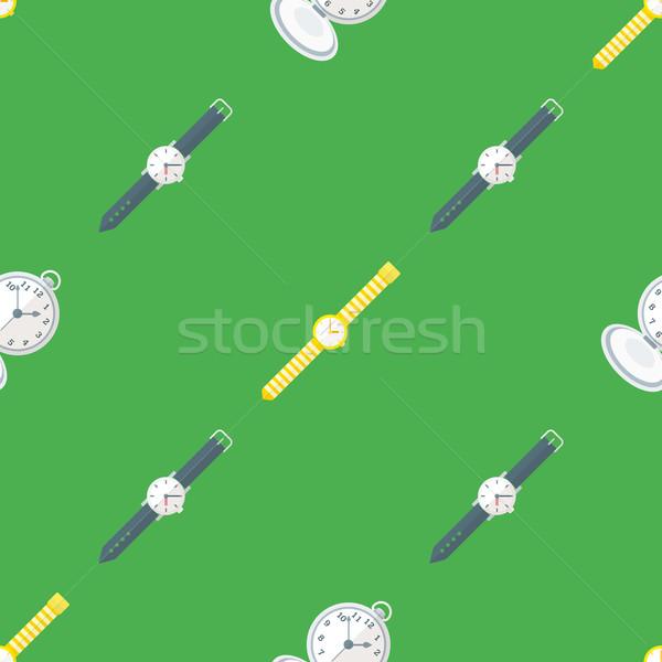 Vektor óra végtelen minta színes terv különböző Stock fotó © TRIKONA