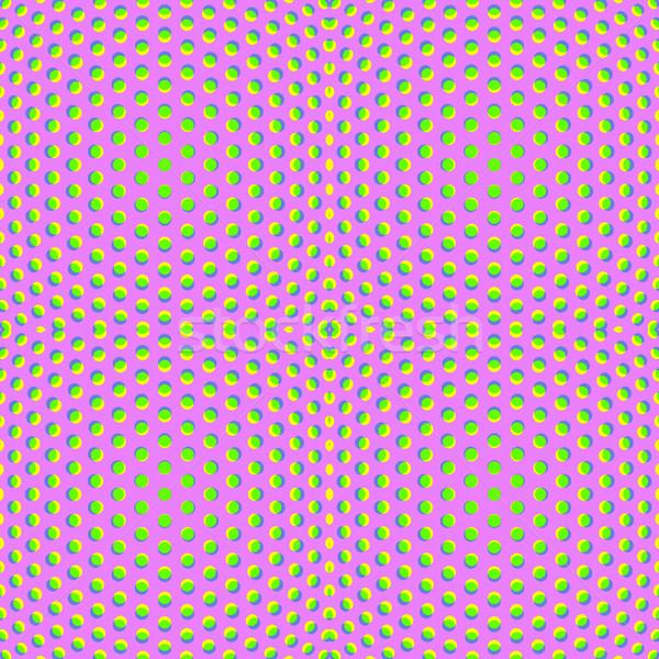 Cząstki złudzenie optyczne wzór wektora projektu powierzchnia Zdjęcia stock © TRIKONA