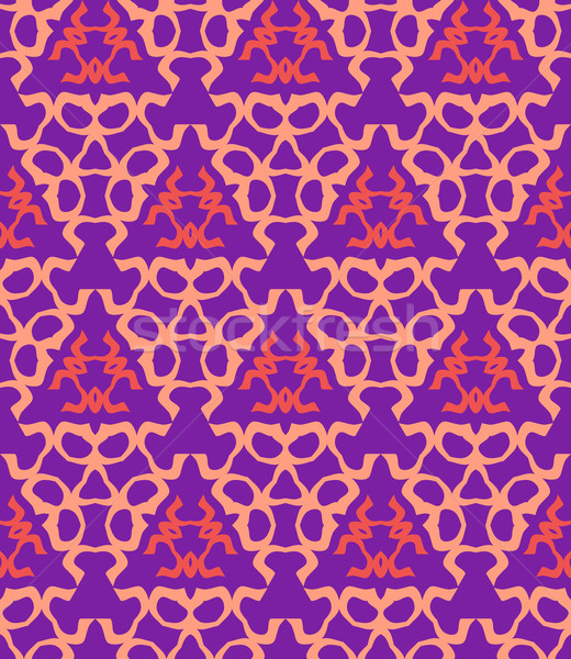 psychedelic abstract colorful violet red cream seamless pattern