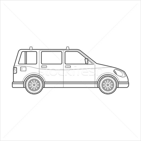 Skicc vagon autó test stílus illusztráció Stock fotó © TRIKONA