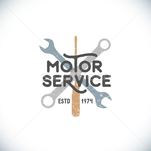 цвета Motor службе знак шаблон вектора Сток-фото © TRIKONA