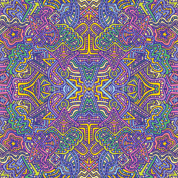 colorful hand drawn seamless pattern illustration Stock photo © TRIKONA