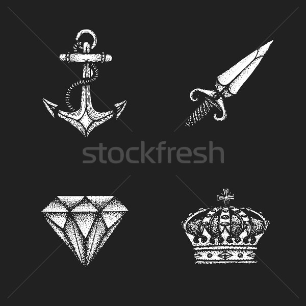 vector vintage engraving illustrations set