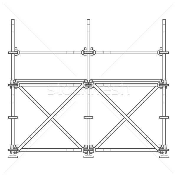 dark contour scaffolding illustration Stock photo © TRIKONA