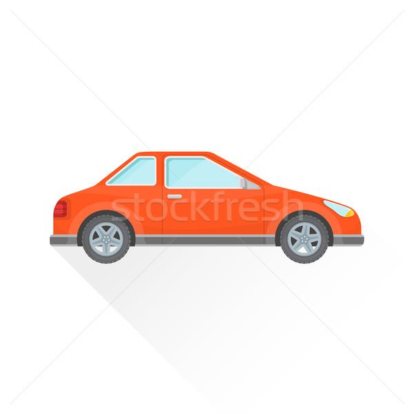Vector Rood coupe auto lichaam stijl Stockfoto © TRIKONA