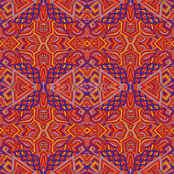 Gekleurd psychedelic patroon vector Rood Stockfoto © TRIKONA