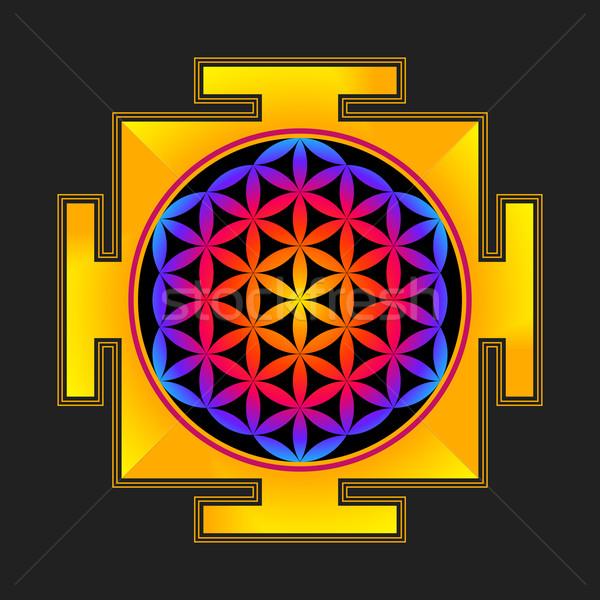 Flor vida ilustración vector hinduismo Foto stock © TRIKONA