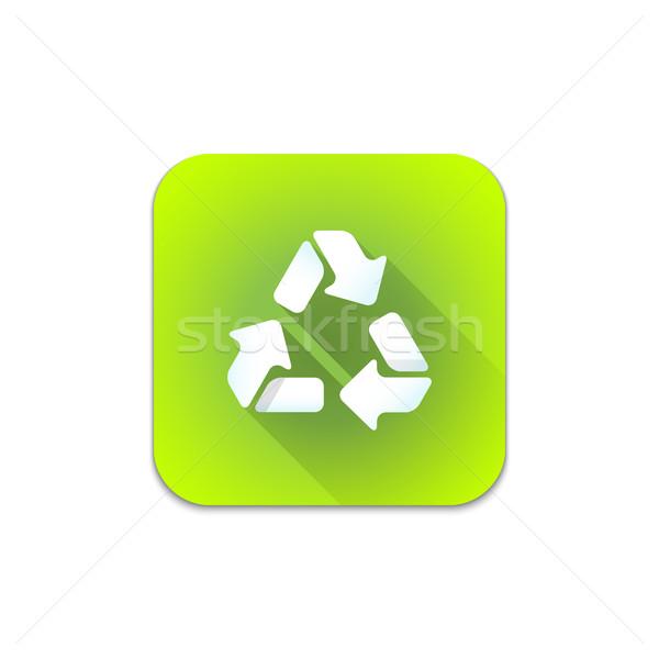 vector recycle waste sign icon Stock photo © TRIKONA