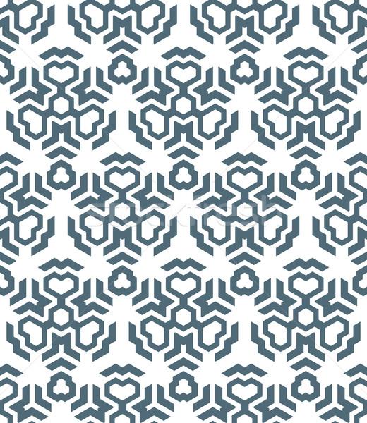 abstract geometric monochrome seamless pattern Stock photo © TRIKONA