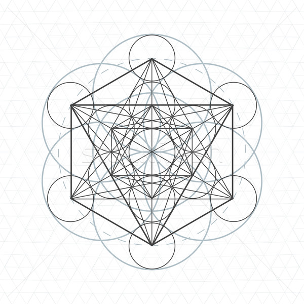 metatron outline seed of life sacred geometry