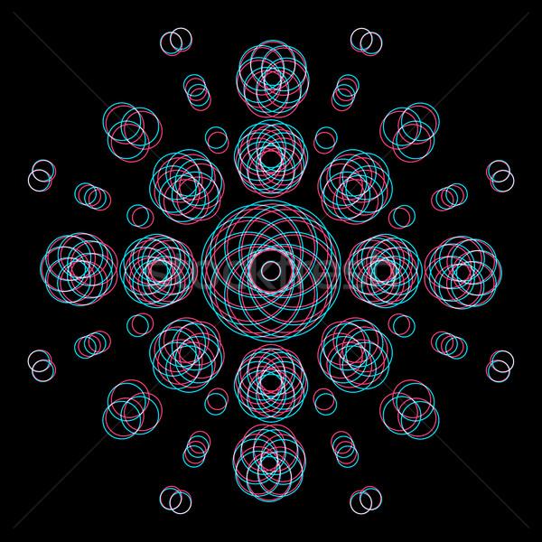 ストックフォト: ベクトル · 抽象的な · 幾何 · 装飾 · サークル