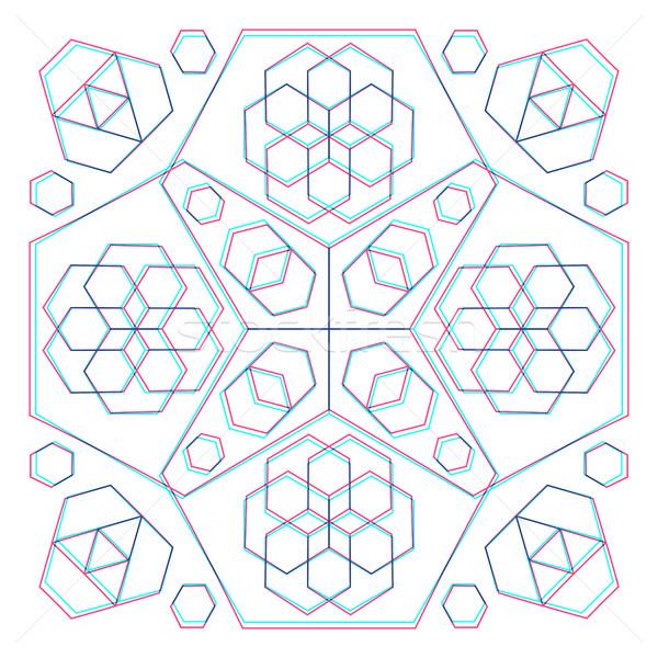 ベクトル 抽象的な 幾何 装飾 にログイン ストックフォト © TRIKONA