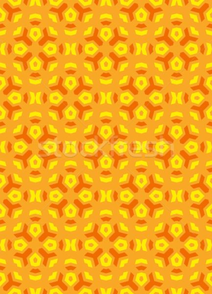 geometric abstract colorful mosaic yellow orange seamless patter Stock photo © TRIKONA