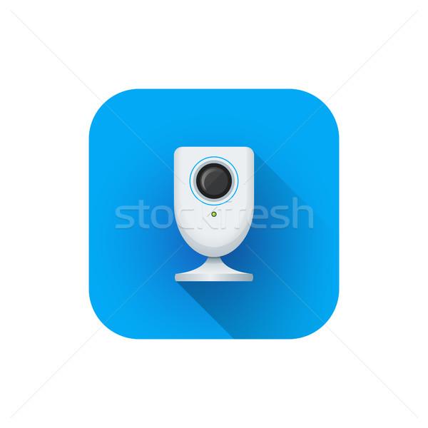 Vektor otthon megfigyelés háló kamera stílus Stock fotó © TRIKONA