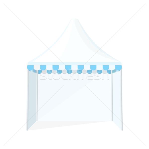 folding tent marquee illustration Stock photo © TRIKONA