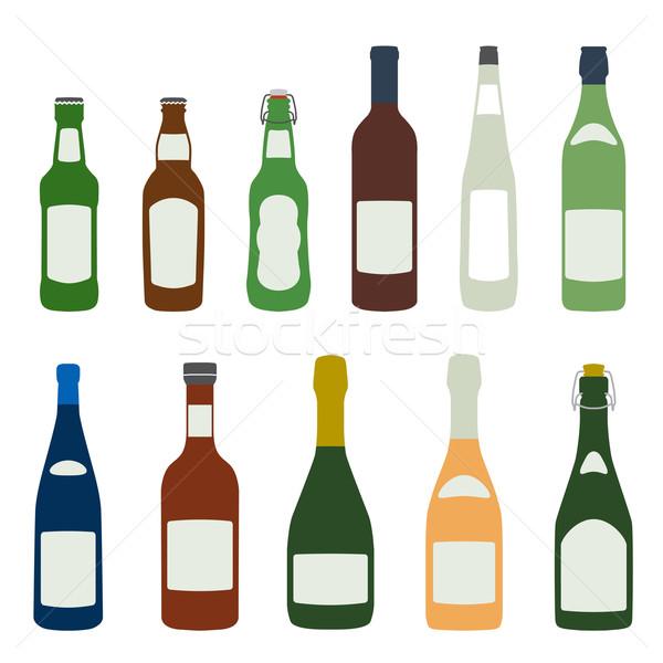 Solido colori alcol bottiglie design Foto d'archivio © TRIKONA