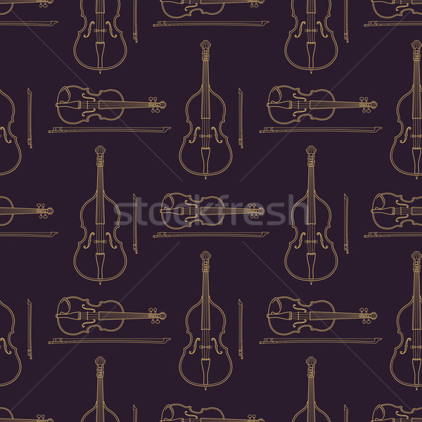 Música clássica vetor monocromático ouro Foto stock © TRIKONA