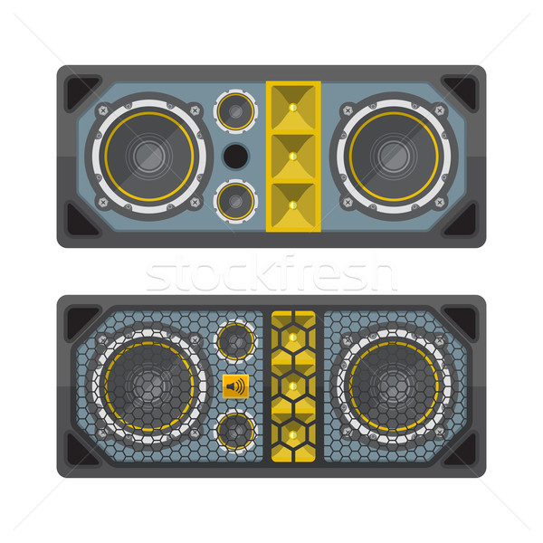 professional concert tour array speakers colored flat style illu Stock photo © TRIKONA