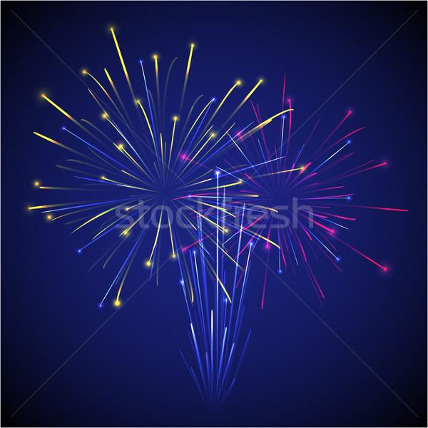 colored chinese new year fireworks illustration Stock photo © TRIKONA