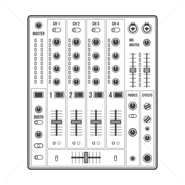 outline sound dj mixer Stock photo © TRIKONA