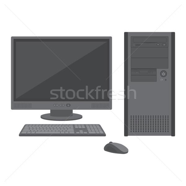Lcd monitor teclado mouse vetor Foto stock © TRIKONA