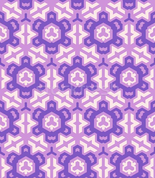 Abstrato geométrico violeta rosa vetor Foto stock © TRIKONA