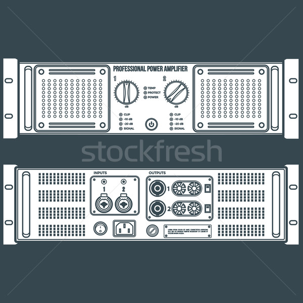 solid color speaker amplifier device illustration