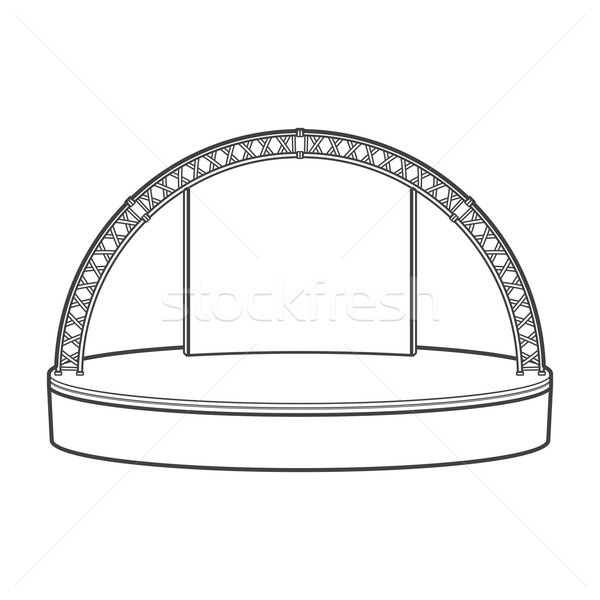 outline dais round stage metal truss illustration