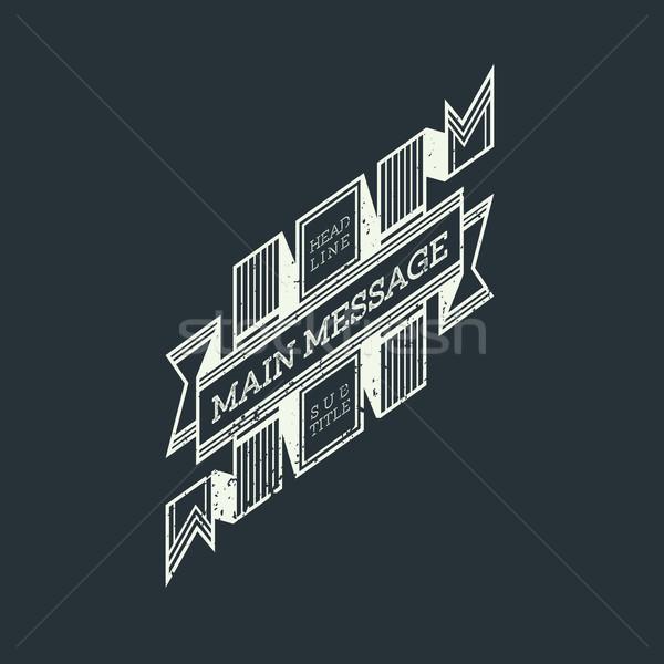 Grunge retro monochroom vintage stijl badge Stockfoto © TRIKONA