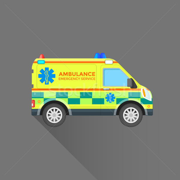 ambulance emergency service car illustration Stock photo © TRIKONA