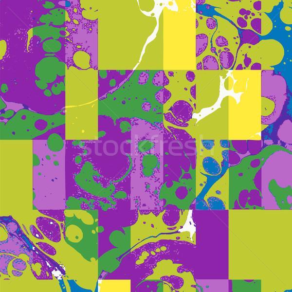 vector colorful glitch art background  Stock photo © TRIKONA