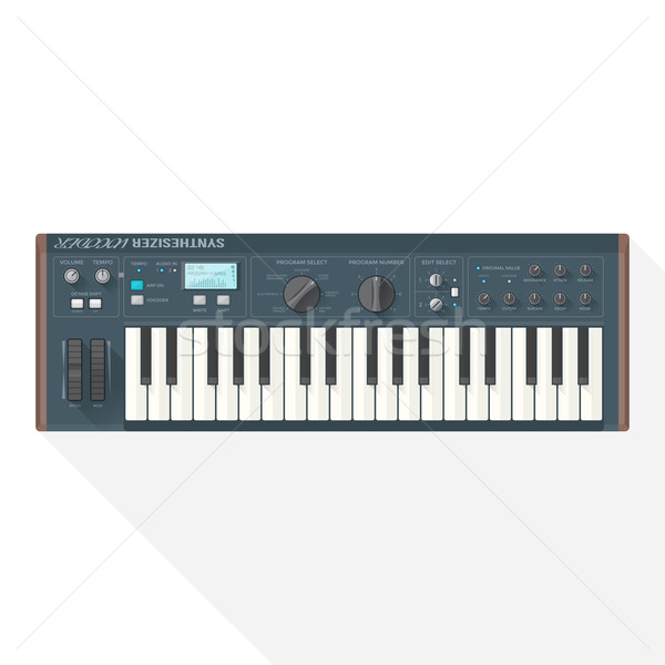 color flat style vector piano roll synthesizer vocoder Stock photo © TRIKONA