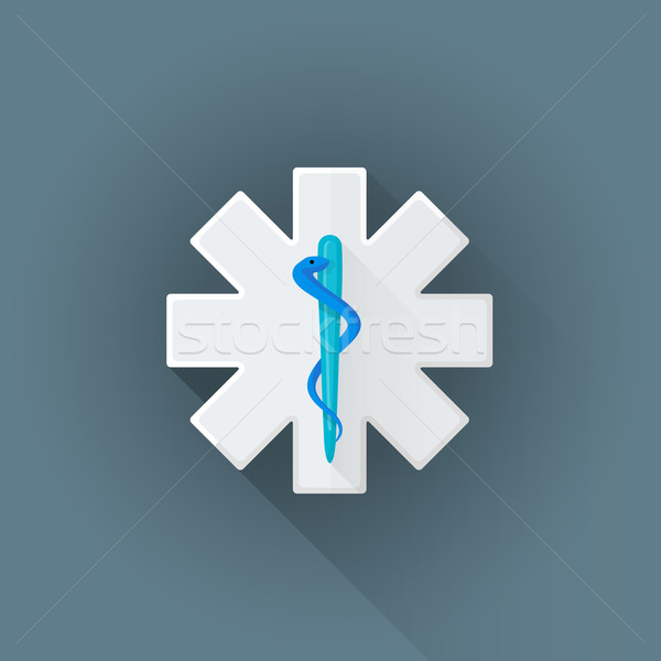 Vektor mentő embléma felirat illusztráció ikon Stock fotó © TRIKONA