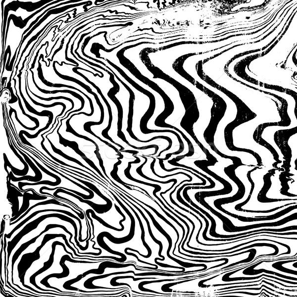 Vektor monokróm absztrakt fekete víz festmény Stock fotó © TRIKONA