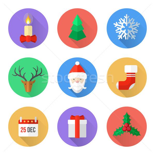 Foto stock: Diseno · Navidad · vector · año · nuevo